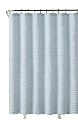 Victoria Classics Praline Fabric Shower Curtain: Pintuck Stripe Design, 72