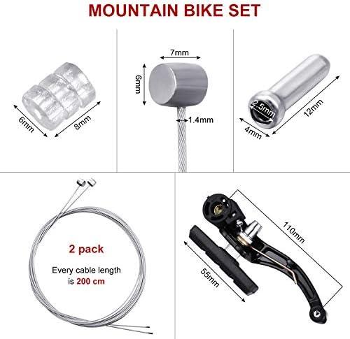 2 x NEW Premier Silver Coloured Bike Brake Cable