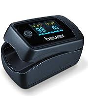 Beurer PO 45 Pulsoximeter, meting van zuurstofverzadiging (SpO2), hartslag (puls) en perfusie-index (PI), pijnloos gebruik, kleurendisplay