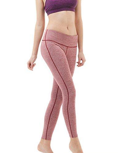 TM-FYP41-SDR_Large Tesla Yoga Pants Mid-Waist Leggings w Hidden Pocket FYP41