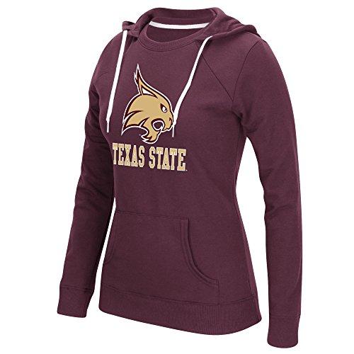 Large Adidas Mascot T-shirt (adidas NCAA Texas State Bobcats Women's Large Back Vertical Fleece Crewdie Top, Medium, Maroon)
