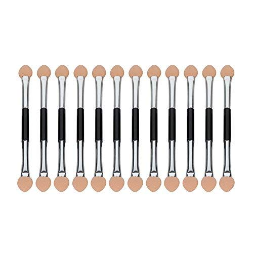 Anleolife Eyeshadow Applicators Bulk Sanitary Eye Shadow Sponges Brush Solid Foam Disposable 60pcs Tiny Paint Brushes (dual sided)