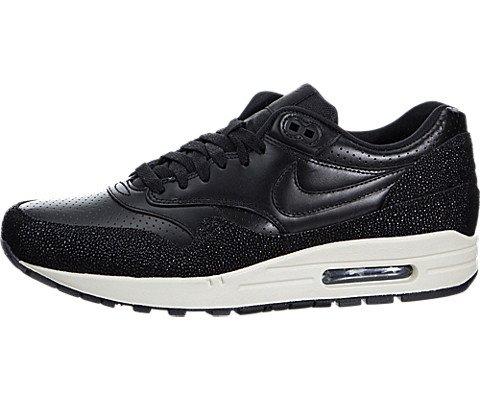 Nike Air Max 1 Men Round Toe Leather Black Running Shoe