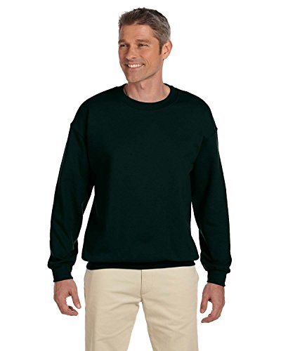Gildan Men's Heavy Blend Crewneck Sweatshirt, Forest Green, Large
