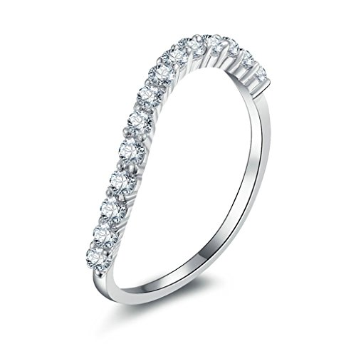 Comfort Fit Cathedral Solitaire (Gnzoe Jewelry, Women Wedding Ring Cubic Zirconia Creative Design, Customized)