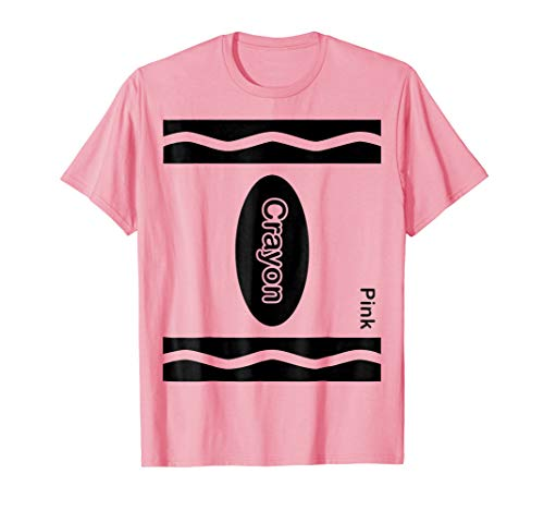 Pink Crayon Halloween Costume Shirt For Friends and -