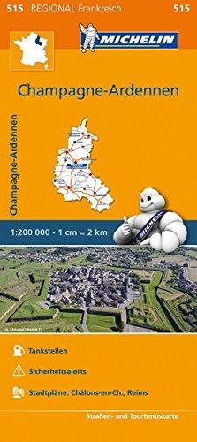 Michelin Champagne Ardennen: Straßen- und Tourismuskarte 1:200.000 (MICHELIN Regionalkarten)