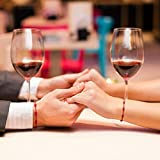 WILLBOND 6 Pieces Red Bracelet Red Cord Bracelet
