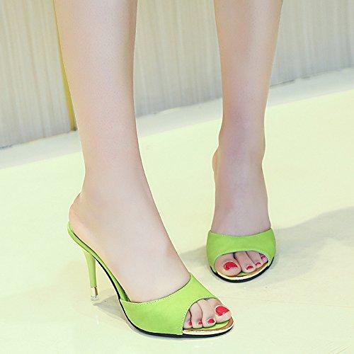 Donyyyy Señoras sandalias, verano, colores puros, señoras, fresco, tacones altos y enfriar la mujer. Thirty-five