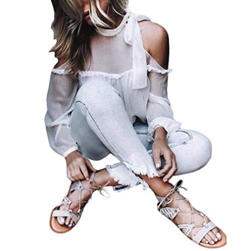 shirt Estivi Donna Manica Senza O Top Alta Elegante Donne Primaverile Chiffon Button Camicie Schienale Di Battercake Monocromo Bianca Bluse Casuale Femminilità Lunga collo Moda Qualità T Fn0qS6qYI