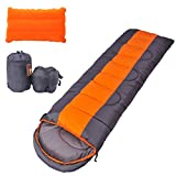 OUTERDO Envelope Camping Sleeping Bag Lightweight and Waterproof with a Portable Compression Sack and a Inflatable Camping Pillow,Great for Backpacking and Outdoor Indoor Activities For Sale