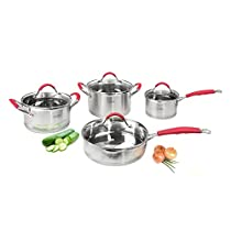 Complete Cuisine 8-Piece Stainless Steel Cookware Set