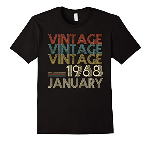 Retro Classic Vintage JANUARY 1968 - 50th Gift 50 Years Old