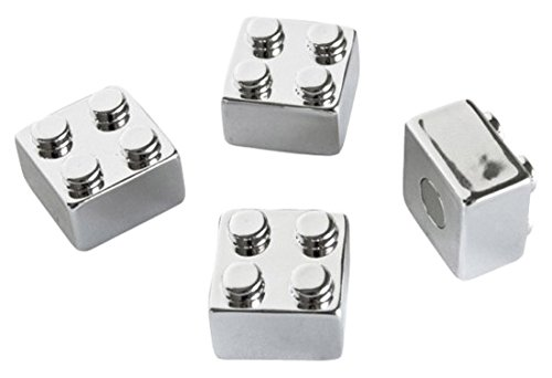 Trendform® Assorted Popular Shape Office Magnets - Chrome Brick ( 1 set of 4 ) Trendform® TF-TF4003