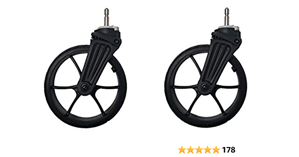 Premier Strollers Replacement Caster Wheels Set Baby Strollers Rubber Wheels Accessories Yoya Vovo Wheel Kids Carriage with Tools GLOGLOW Front Wheel Set for Baby Jogger Front Wheel