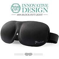 Schlafmaske f¨¹r Frauen & M?nner, PaiTree Augenmaske zum Schlafen, 3D konturierte, bequeme ultraweiche Schlaf-Augenmaske & Augenbinde mit einstellbaren B?ndern