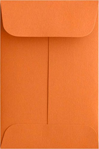 #1 Coin Envelopes (2 1/4 x 3 1/2) - Mandarin Orange (250 Qty.) | Perfect for Weddings, Parties & Place Cards | Fits Small Parts, Stamps, Jewelry, Seeds | Mini / Crafting Envelopes | 80lb Text Paper