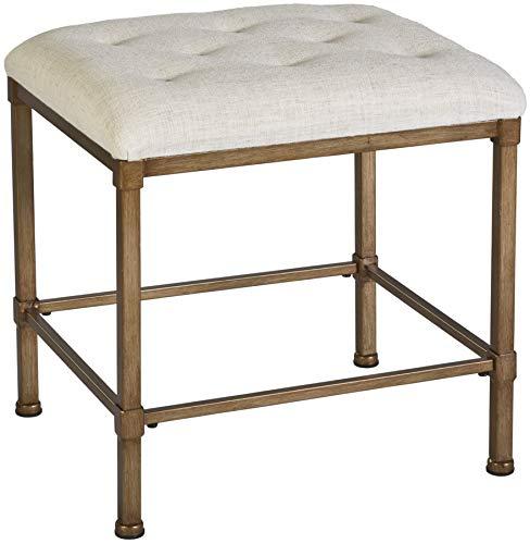 Hillsdale Furniture Katherine Vanity Stool, Golden Bronze (Stool Bench Upholstered)