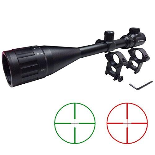 6-24X50mm Aoeg Optic Duplex Reticle /6-24X50Matte Black Finish Rifle Scopes Hunting/AO/Bule Lens