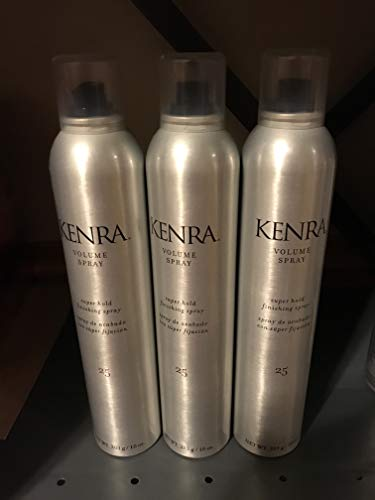 Kenra Volume Super Hold Finishing Spray # 25 10 oz Pack of 3