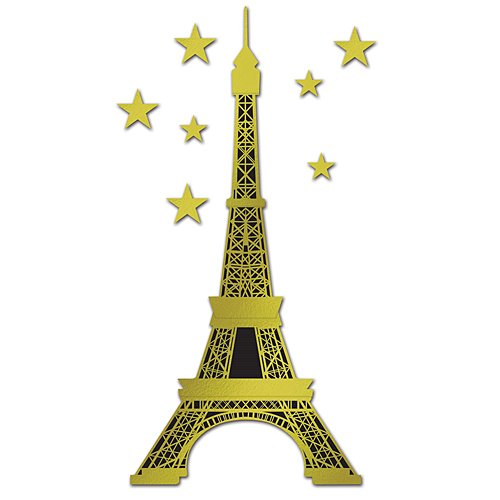 Eiffel Tower Cut Out (Beistle 54214 Jointed Foil Eiffel Tower, 5-Feet)