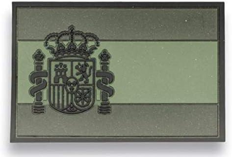 Barbaric Parche Bandera España Verde con Velcro 5.4 x 3.4 cm: Amazon.es: Deportes y aire libre