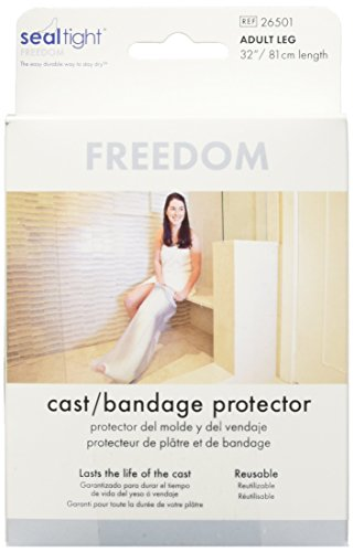 Seal Tight Freedom Cast and Bandage Protector, Best Watertight Protection, Adult Leg (Protector Shower)
