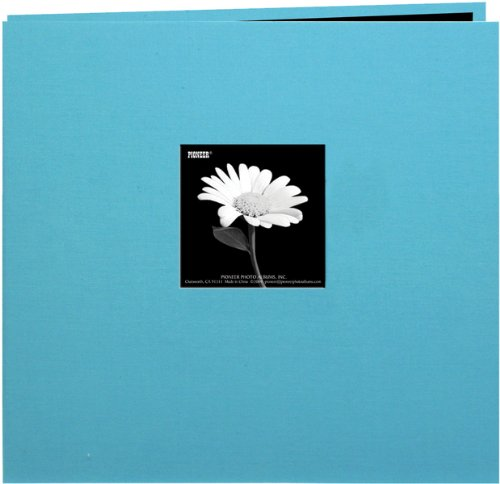 (Book Cloth Cover Postbound Album With Window 8