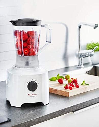 Moulinex FP246110 - Robot de cocina (2,4 L, Blanco, Giratorio, 1,8 L, Mezcla, Picar, Moler, Amasar, Mezcla, Puré, China): Amazon.es: Hogar