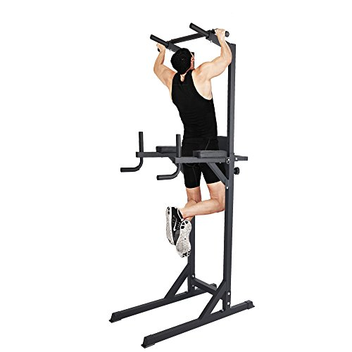 Livebest Heavy Duty Fitness Power Tower Multi-Function Strength Training Workout Dip Station Work Out Equipment for Home Gym by Livebest (Image #4)