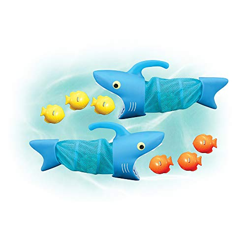 Melissa & Doug Sunny Patch Spark Shark Fish Hunt Pool Game With 2 Nets and 6 Fish to Catch ()