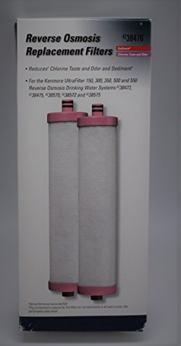 Sears Kenmore Reverse Osmosis (Sears Kenmore 2 Replacement Filters in a Box, Ultrafilter 150, 300, 350, 500, 550, Reverse Osmosis Drinking Water Systems 38472, 38475, 38570, 38572, and 38575)