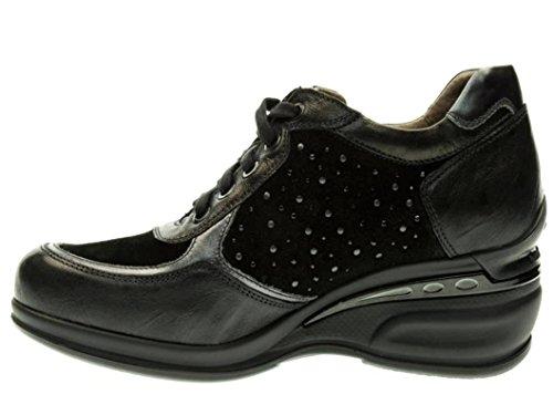 Nero Giardini - Zapatillas de Piel para mujer Plomo
