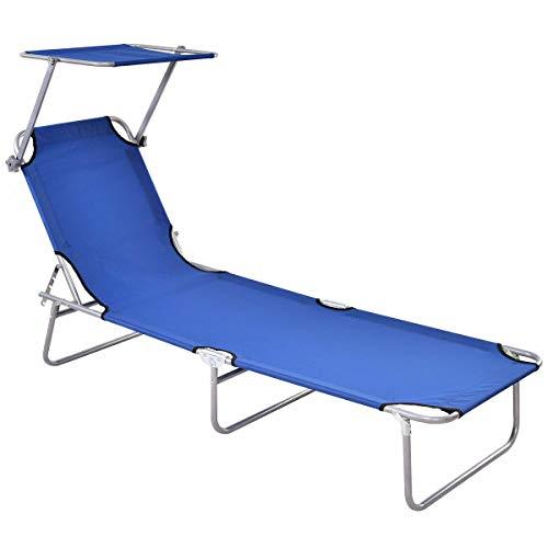 Stark Item Sun Lounge Bed Chair Beach Recliner Garden Patio Pool Seat Back Relaxer Foldable (Umbrella Store Near Me Beach)