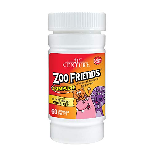 21st Century Zoo Friends Complete Chewable Tablets, 60-Count (Pack of 2)
