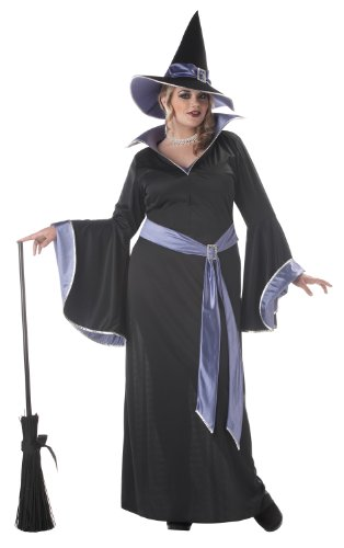 California Costumes Women's Plus-Size Incantasia The Glamour Witch Plus, Black/Purple, 3X (Woman Witch Halloween Costumes)