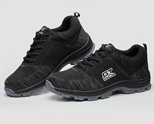 LIDUN Unisex Breathable Steel Toe Shoes Men Steel Toe Boots Womem Steel Toe Sneakers (US Men 9, LD01) by LIDUN (Image #3)