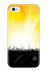 Ideal AmandaMichaelFazio Case Cover For Iphone 4/4s(bright Orange Burst ), Protective Stylish Case