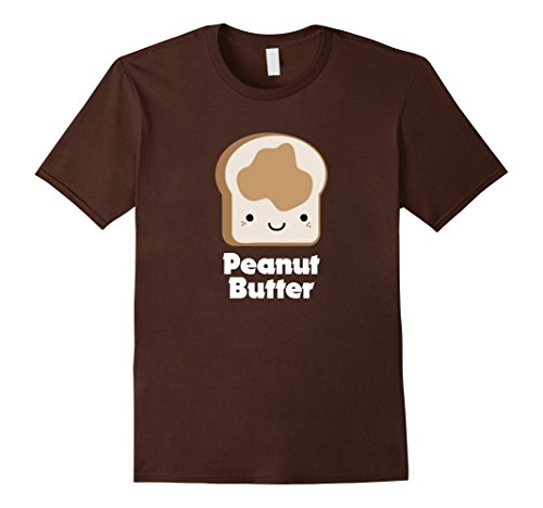 Mens MATCHING SET Peanut Butter and Jelly Couples Friend Shirt XL Brown