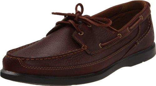 (Dunham Men's AFT 2-Eye Boat Shoe, Brown, 9.5 2E US)