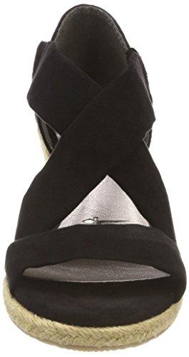 Negro Plataforma con Tamaris Sandalias 001 Plana Black para Mujer 28059 tqq0wp
