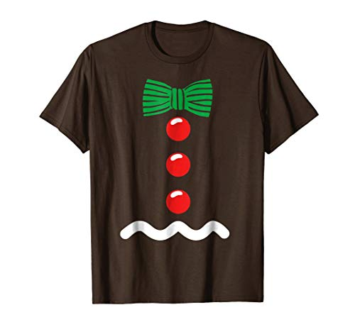 Gingerbread Man Costume Kids Christmas Cookie Shirt -