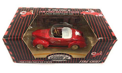 Gearbox Collectible Die Cast Pedal Car Model 69259: 1940 Ford Deluxe Coupe Car with Texaco Fire Chief Logo, Limited Edition # 1 in a Series 1/55 Scale (Car Pedal Diecast)
