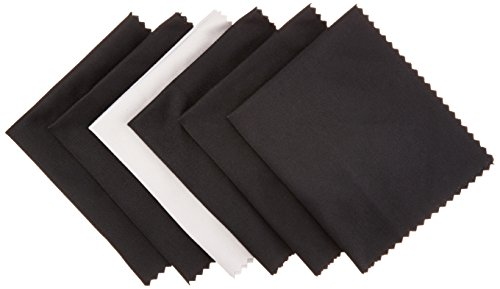 AmazonBasics Microfiber Cloths for Electronics (6 Pack) -  Cleans Lenses, Glasses, Screens, Cameras, iPad, iPhone, Tablet, Cell Phone, LCD TV Screens and more