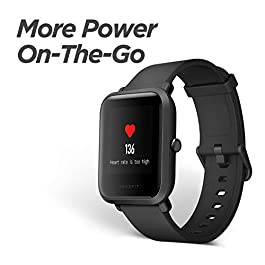 Amazfit Bip Fitness Smartwatch, All-Day Heart Rate and Activity Tracking, Sleep Monitoring, Built-In GPS, 45-Day Battery…