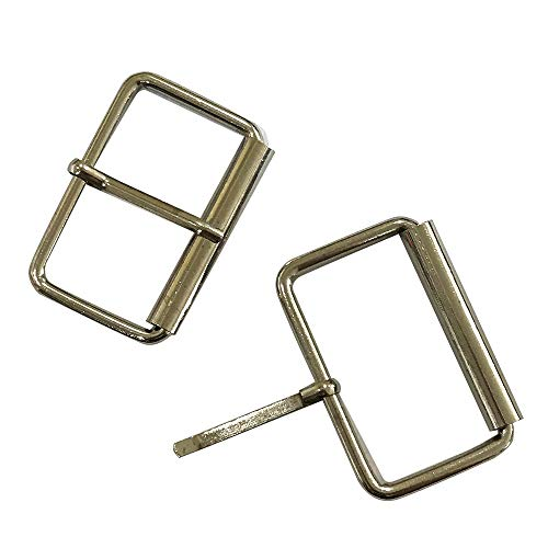 ZQMALL Metal Roller Buckles,Heavy Strong Belt Buckles Leather Strap Webbing Shinning Roller Pin Buckles,Pack of 20, (35MM),Q2315