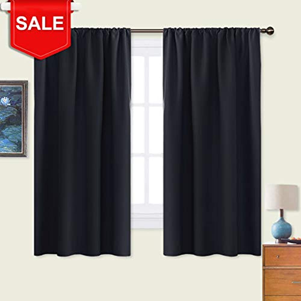 Black Panels Blackout Curtain Blinds