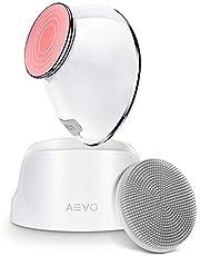 AEVO Spazzola Detergente per Viso, Pulizia 6 Volte più Profonda con Massaggio Risacldato e Vibrazioni Sonore, Testina Rimovibile in Silicone con Esfoliazione, Ricaricabile, 5 Modalità