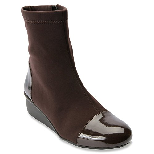 Brown Patent Leather Boots - 6