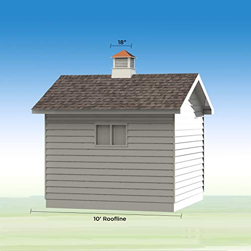 Good Directions 2118WV Windsor PVC Vinyl Cupola with Polished Copper Roof, 18-Inch x 25-Inch by Good Directions (Image #4)